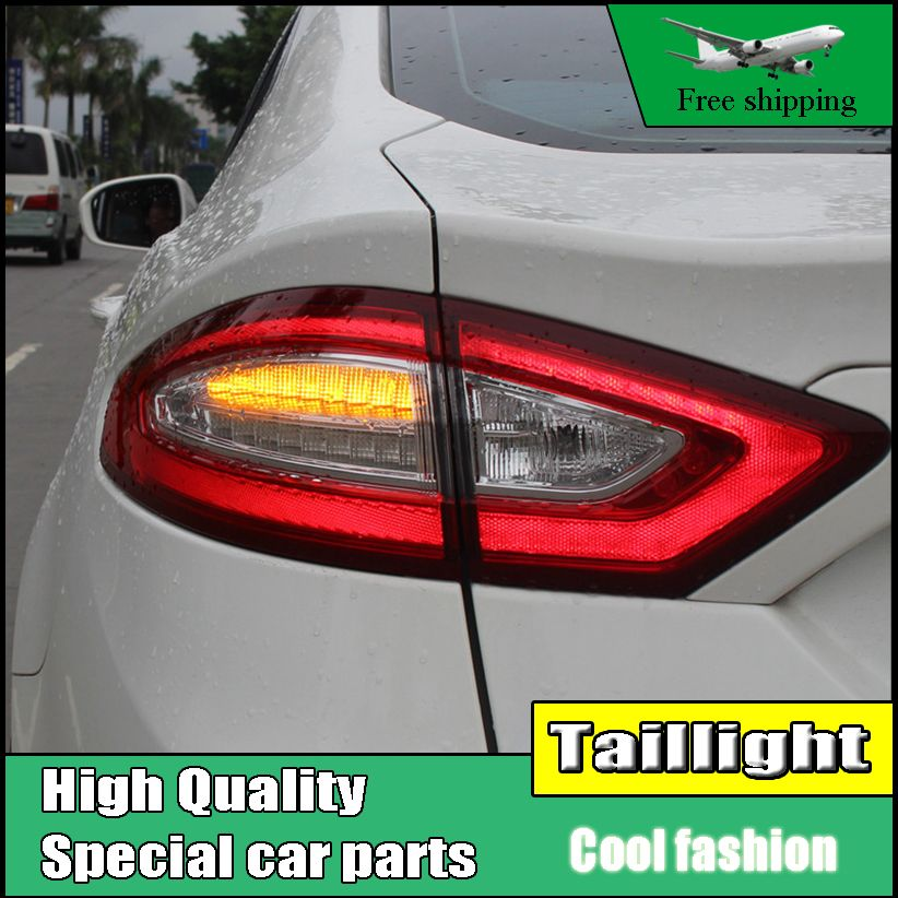 Car Styling Tail Light Case For Ford Mondeo Fusion Taillights 2013-2016 LED Tail Lamp Rear Lamp DRL+Brake+Park+Signal light