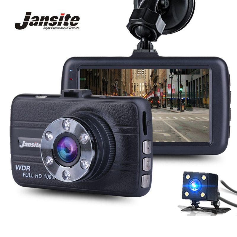 Jansite FHD 1080P Mini Dash Cam Car DVR Blackbox Camera Dashboard Camera Vehicle Dual Lens Camera Loop Video Recorder G-Sens