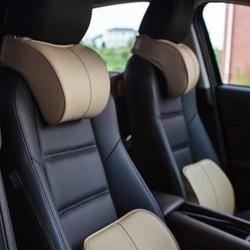 Kapas Memori Mobil Bantal Kulit VODOOL Auto Headrest Mobil Leher Istirahat Bantal Kursi Keselamatan Bantal Dukungan Mobil Styling Aksesoris