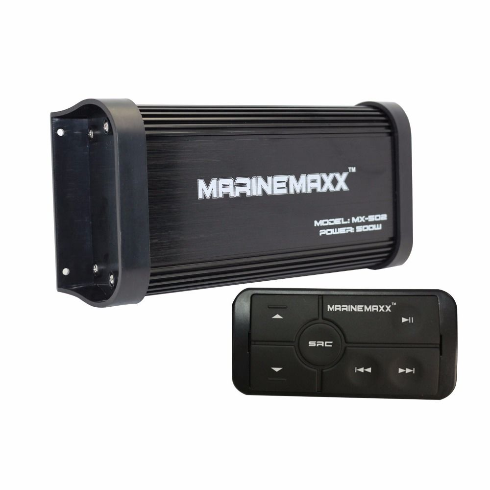 500W Waterproof Marine Bluetooth 4 Channels Car Amplifier Stereo Audio Motorcylce With Controller For Boat ATV UTV Golf Cart