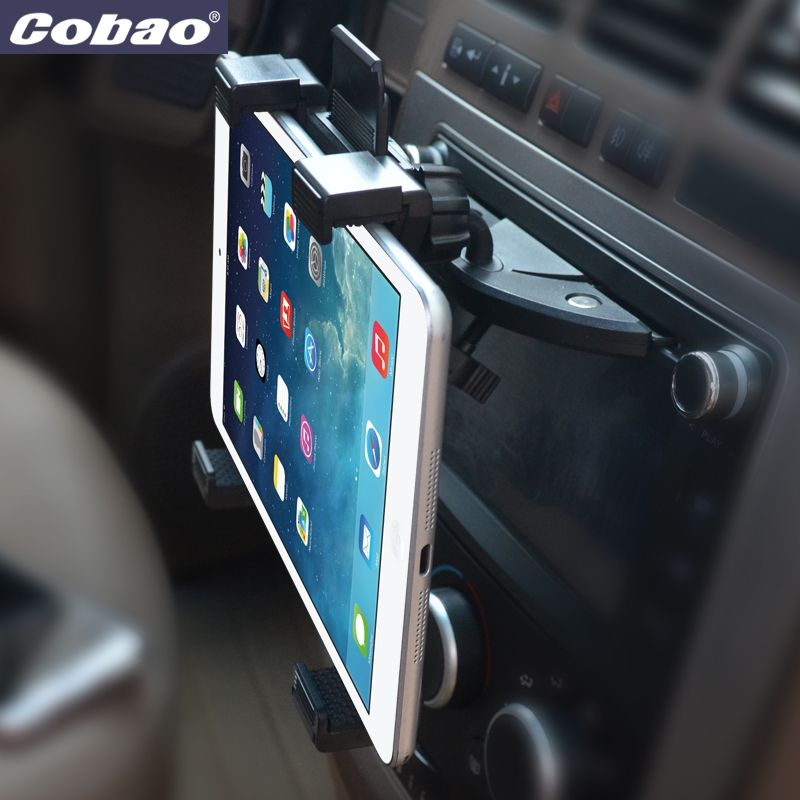 Universal 7 8 9 10 11 inch car tablet PC holder Car Auto CD <font><b>Mount</b></font> Tablet PC Holder Stand for iPad 2 3 4 5 Air for Galaxy Tab