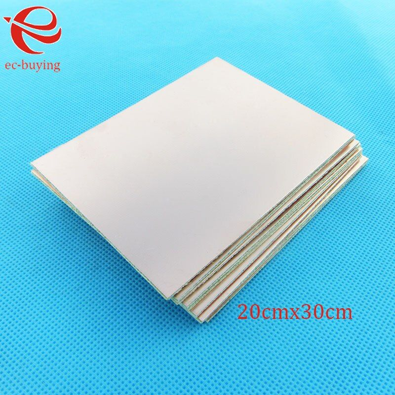 5 pcs/lot Copper Clad Laminate Double Side Plate CCL 20x30cm 1.5mm FR4 Universal Board Practice PCB DIY Kit 200*300*1.5mm