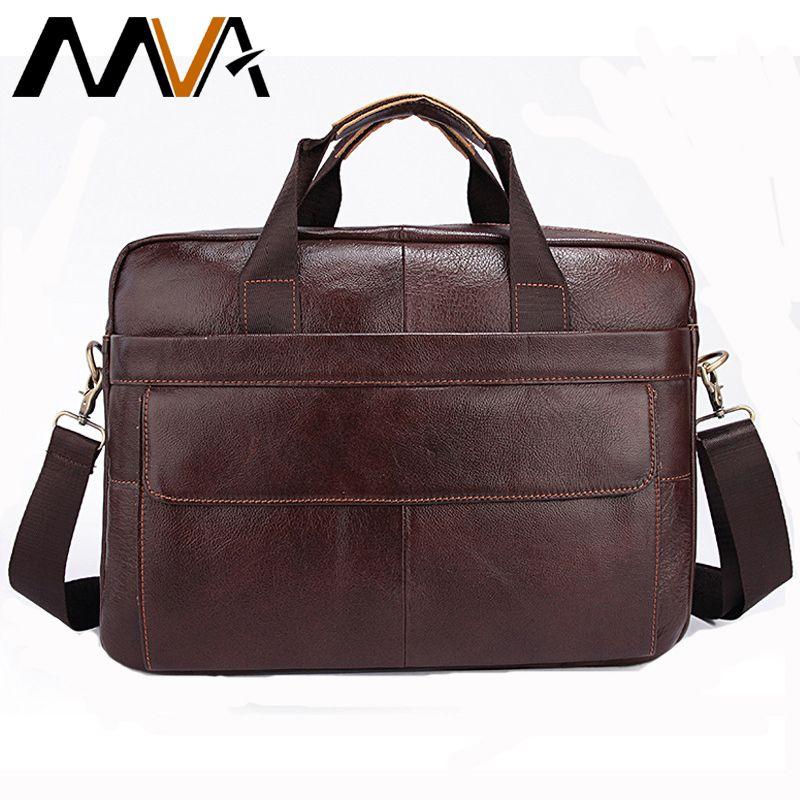MVA Genuine Leather Bag Men Fashion Leather Men's Briefcase Laptop Handbags Male Bag Men Messenger Bags Shoulder Crossbody Bags