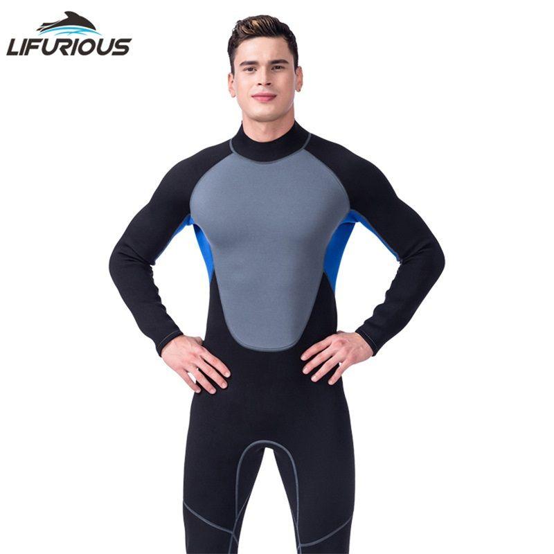 LIFURIOUS New Swim Neopren Neoprenanzüge Männer Schwimmen Surfen Einteiliges Badeanzug Unterwasser Jagd Neoprenanzug Badebekleidung Für Taucheranzug