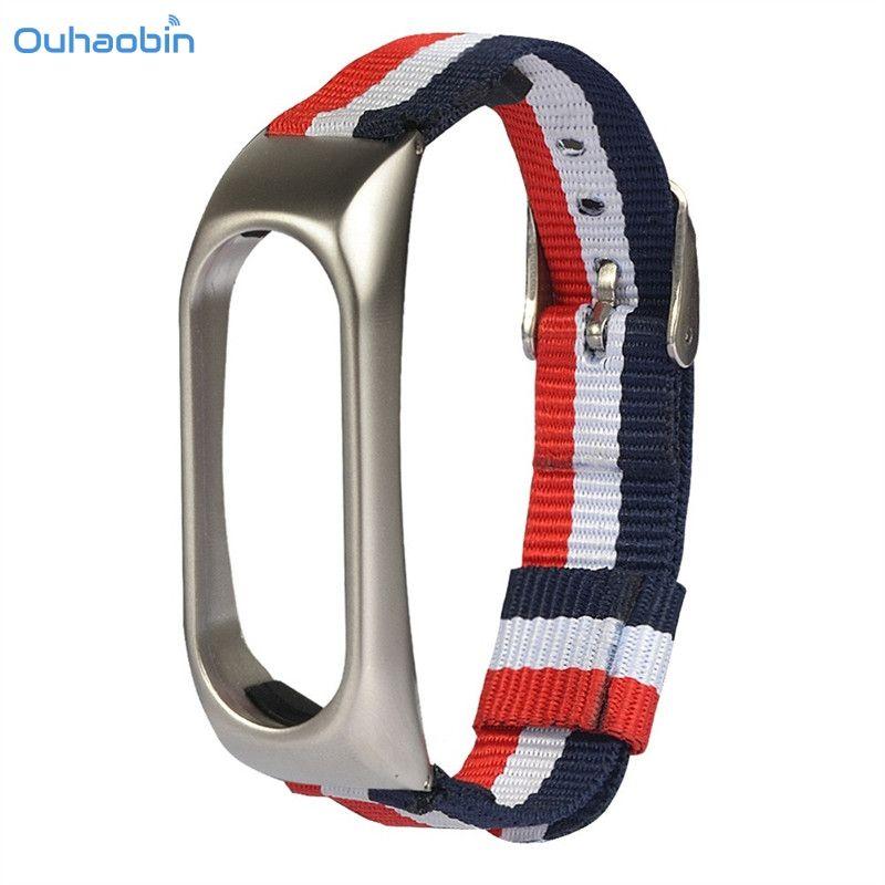 Ouhaobin Neue 3 Farbe Leichte Nylon Verstellbare Handschlaufe Ersatz Band Sport Band Für XIAOMI MI Band 2 Straps Oct26