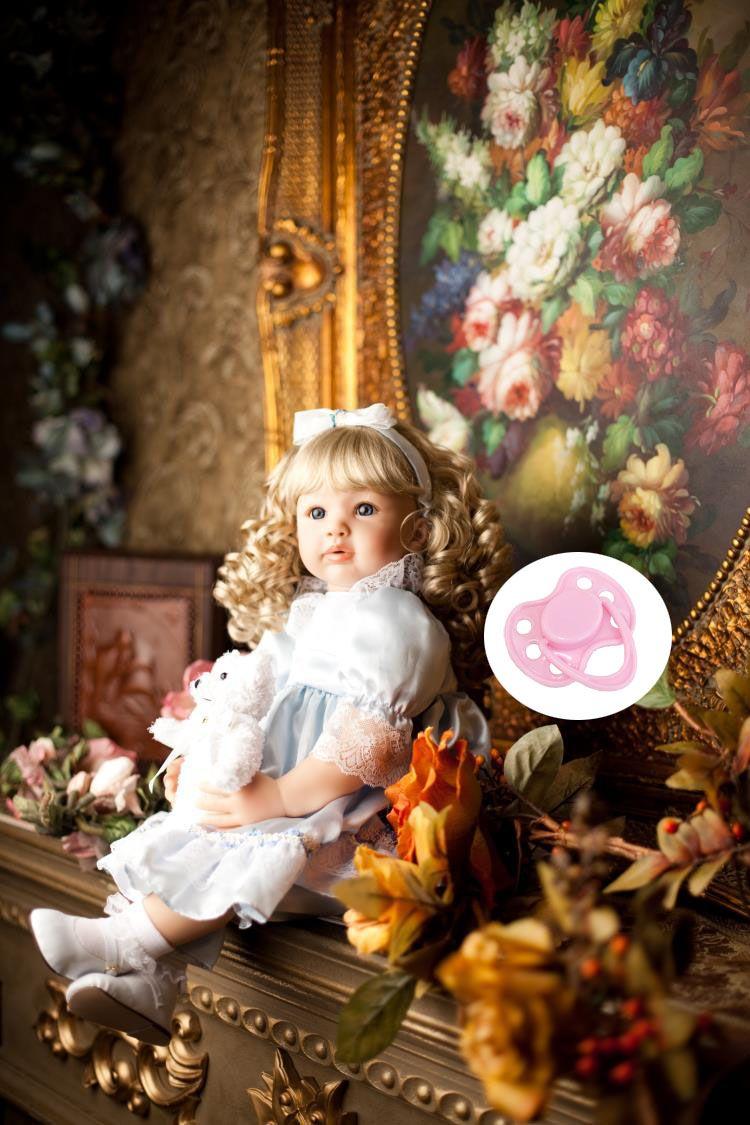 60cm Silicone Vinyl Reborn Baby Doll Lifelike Newborn Girls Babies Toddler Dolls Child Kids Birthday Gift Present