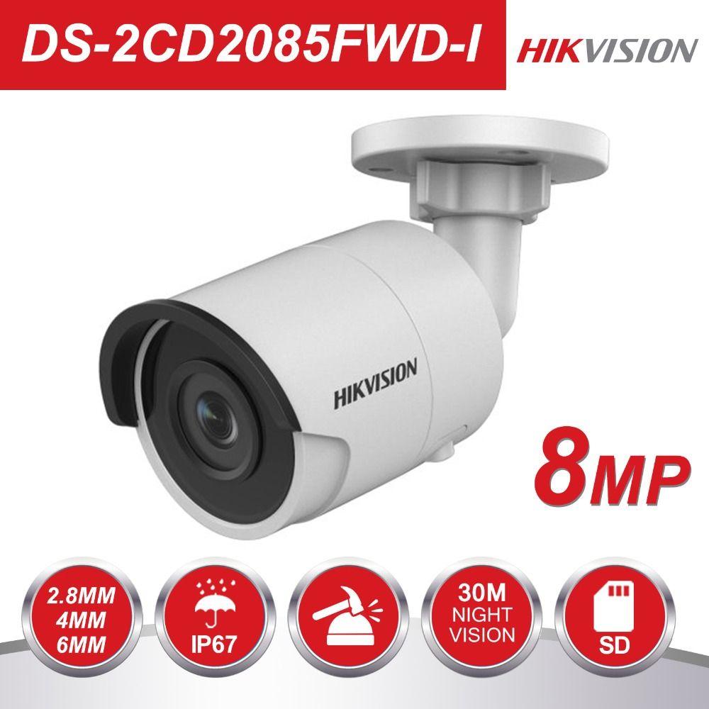HIKVISION 8MP H.265 Netzwerk Kugel IP Kamera DS-2CD2085FWD-I 3D DNR Sicherheit Kamera mit Hoher Auflösung 3840*2160