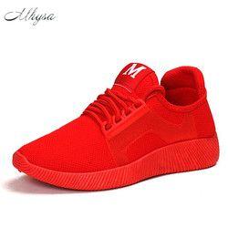 Mhysa 2018 весной и летом Designer Wedges; красные, черные женские Сникеры на платформе обувь Повседневное из сетчатого материала; женская обувь; Больши...