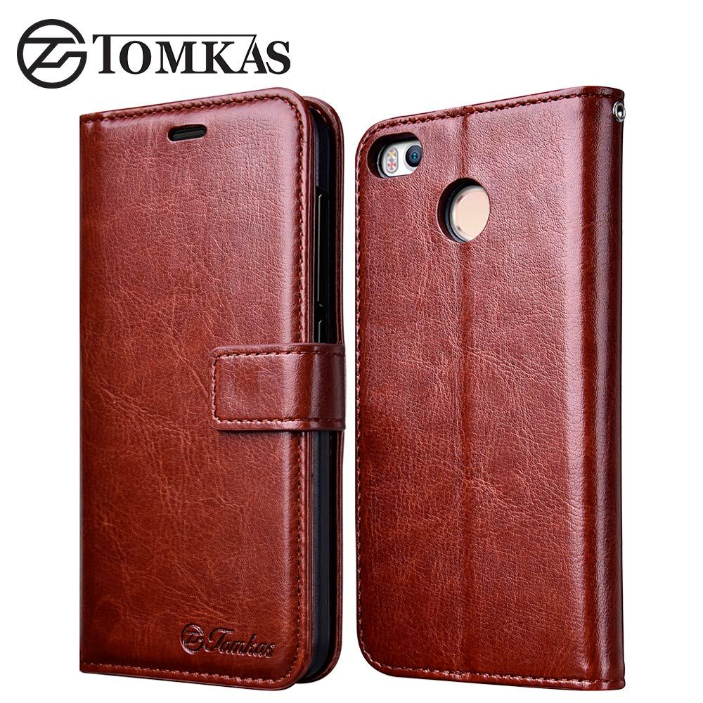Xiaomi Redmi 4X Case 5.0 Wallet Flip PU Leather Cover Cases For Xiaomi Redmi 4X Pro Xiomi Phone Bag with Stand TOMKAS