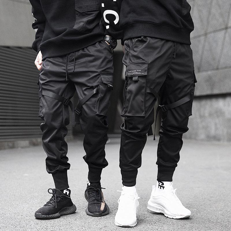2019 hommes multi-poches Harem Hip Pop pantalon pantalon Streetwear pantalons de survêtement Hombre mâle décontracté mode Cargo pantalon hommes pantalons de survêtement