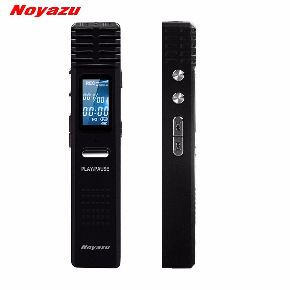 NOYAZU Original X1 Digital Audio Voice Recorder Long Time <font><b>Recording</b></font> 8G Professional dictaphone Mini MP3 Player gravador de voz