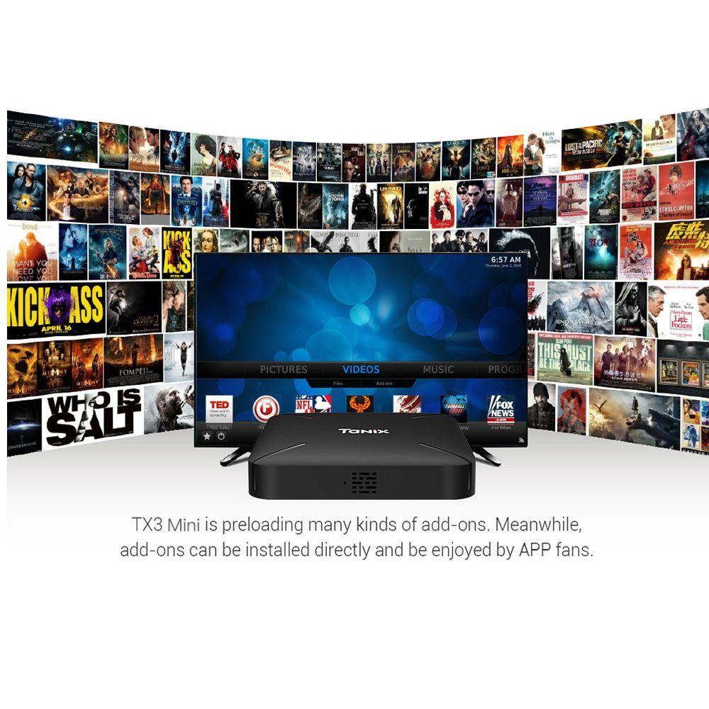 Tanix TX3 Mini L Android 7.1 TV Box Amlogic S905W 1 gb + 8 gb/2 gb + 16 gb 2,4g WiFi 100 Mbps Unterstützung 4 karat H.265 Set-Top Box