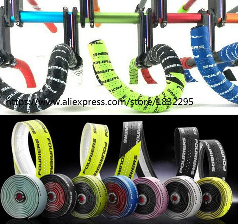 1 set Fouriers Road Bike Handlebar Tape Belt Bicycle Cycling Handle Cork Waterproof Handlebar Tape Wrap