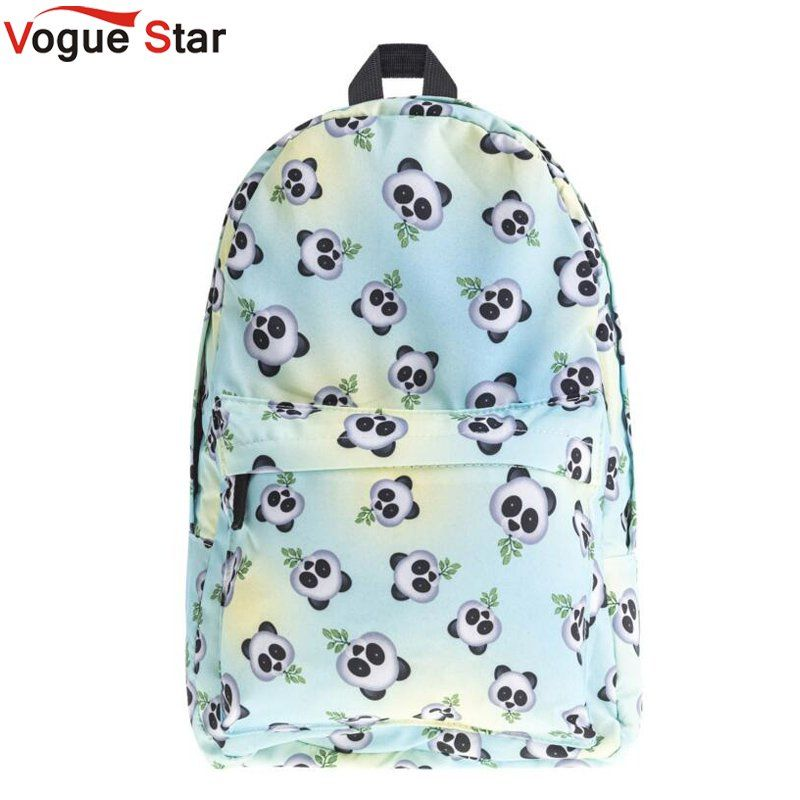 Eomji Panda Print Backpack Women Mochila Necessaire School Bags Bookbag for teenage girls sac a dos canvas backpack LB289