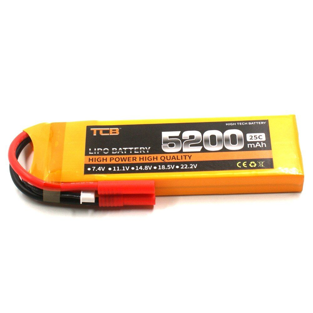 TCB RC Drone lipo battery 7.4v 5200mAh 25C 2s FOR rc airplane helicopter car boat 2s Batteria power T/XT60