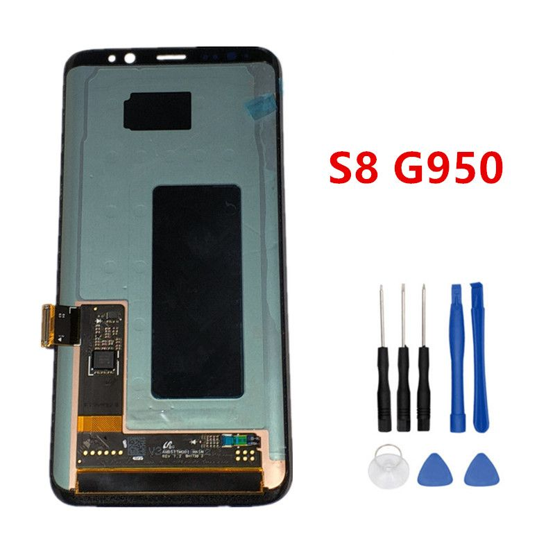 Super AMOLED For Samsung galaxy S8 G950 Lcd Display Touch Screen Digitizer Assembly For Samsung S7 G930 G930F lcd with Frame