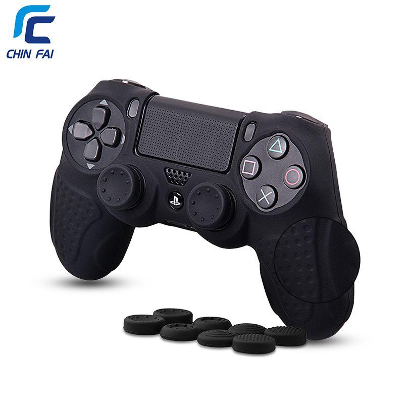Cas pour PS4 Cas avec 8 Bâton Pouce Poignées Anti-slip Grip Silicone Case Pour Playstation 4 DualShock4 Contrôleur accessoires