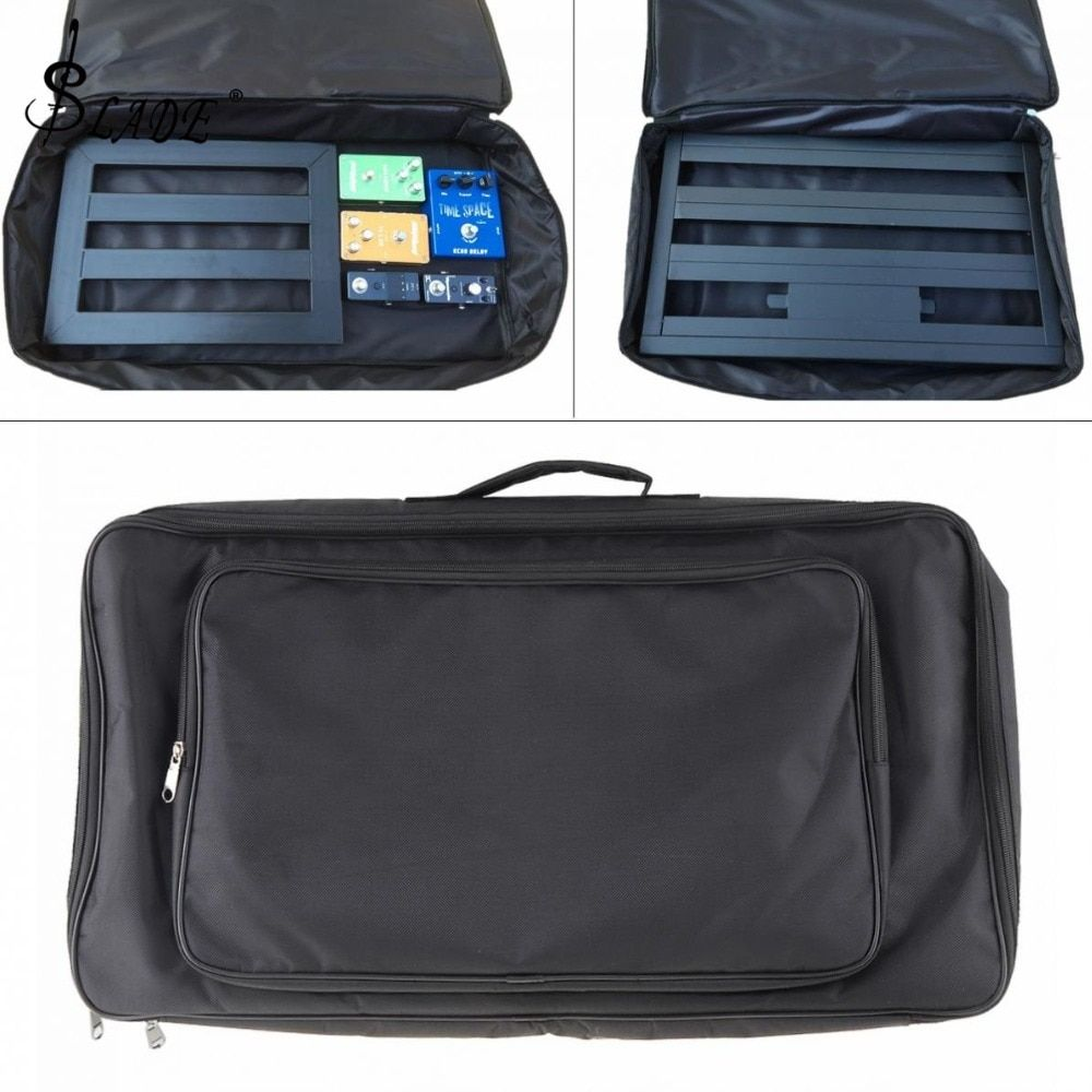 60*33*10cm Black Universal Portable Guitar Effects Pedal Board Gig Bag Soft Case Big Style  DIY Guitar Pedalboard
