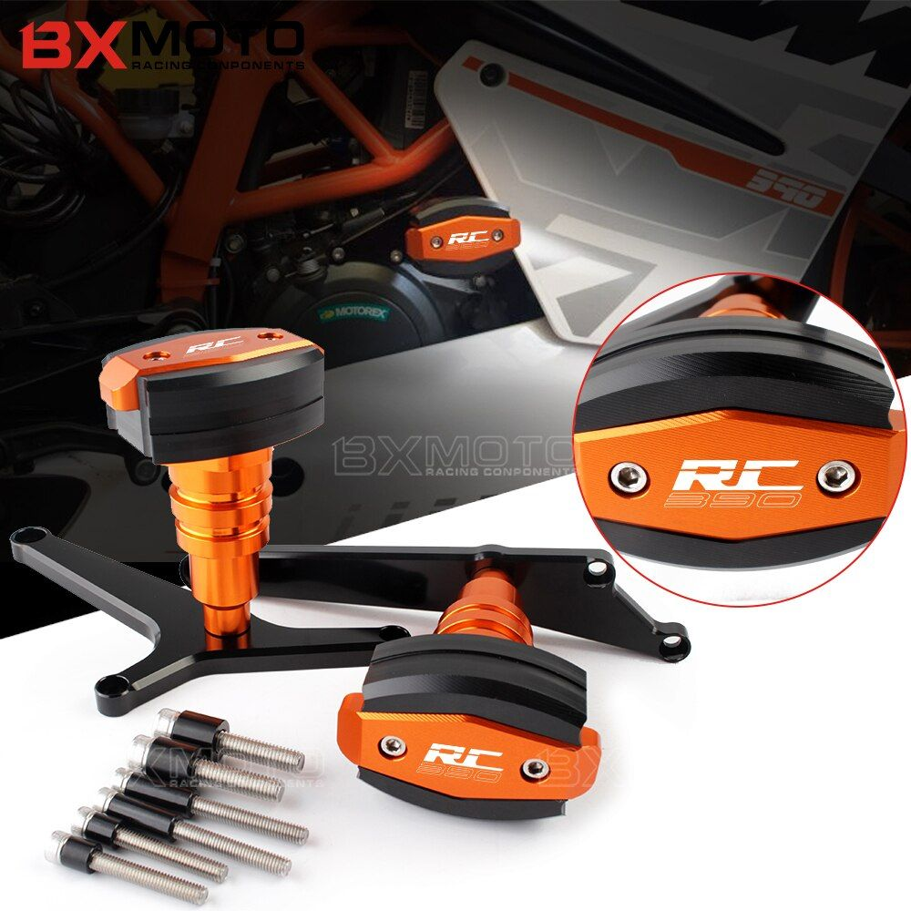 For KTM RC390 2014 2015 -2017 RC 390 Motorcycle CNC Left&Right Frame Sliders Anti Crash engine Falling Protector Pad sides
