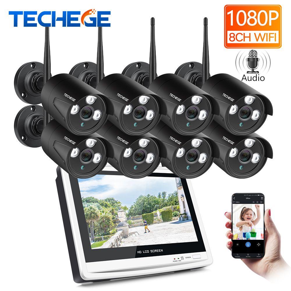 Techege 8CH 1080P Wireless NVR CCTV System 12