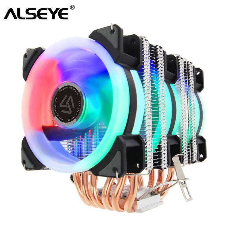 ALSEYE ST-90 refroidisseur de processeur 6 Heatpipe avec RGB 4pin ventilateur CPU qualité supérieure CPU De Refroidissement nouveauté