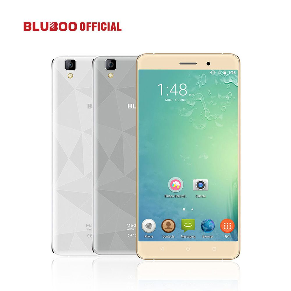 Original BLUBOO <font><b>Maya</b></font> 5.5 HD 3000mAh WCDMA Smartphone Android 6.0 MTK6580 Quad Core 2GB RAM 16GB ROM 8.0MP+13.0MP Mobile Phone