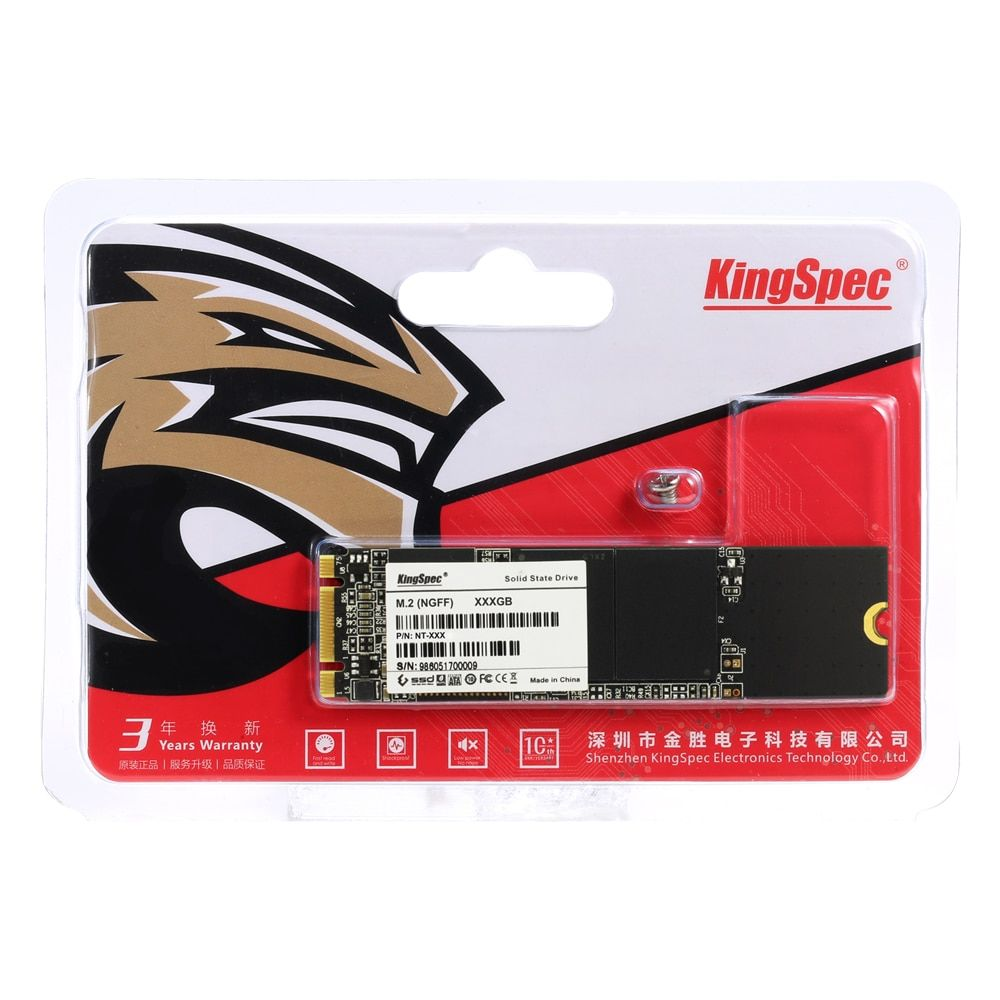 NT-2TB Kingspec M.2 2280 NGFF 2TB SSD Internal Solid State Drive Hard Disk High Speed For Laptop PC Computer Ultrabook