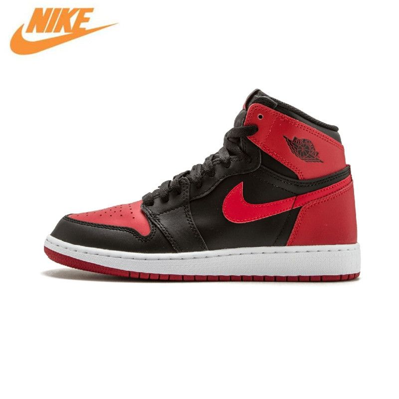 Nike Air Jordan 1 OG Verboten Basketball-schuhe Breathable männer Sport Turnschuhe Trainer 575441-001 575441-010