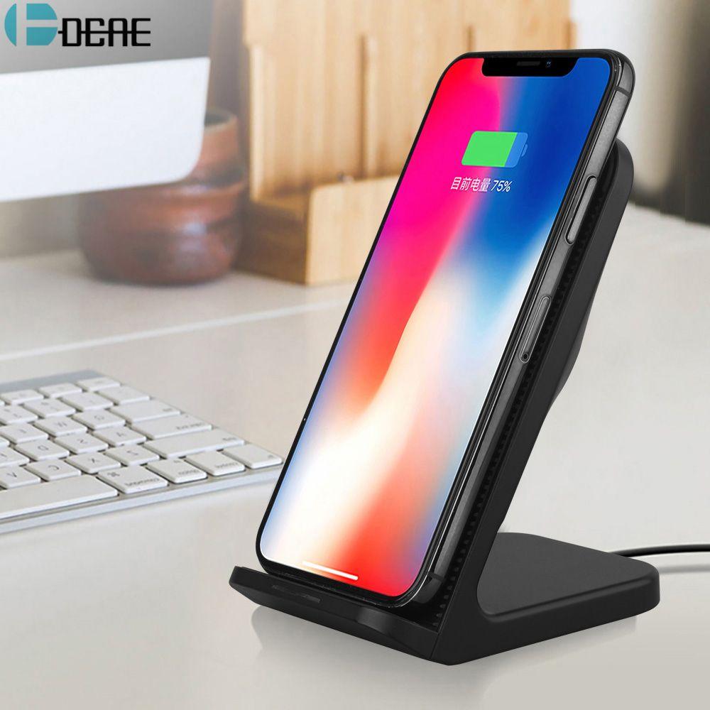 DCAE 10 w Qi Sans Fil Chargeur pour iPhone XS Max XR X 8 Téléphone Stand Rapide Sans Fil De Charge pour Samsung galaxy S9 S8 Plus Note 9 8