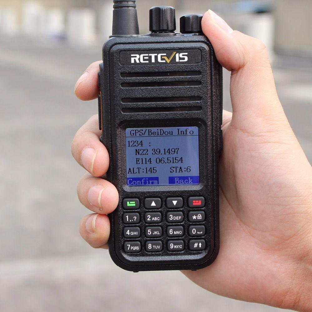 Retevis RT3 GPS DMR Radio Digital Walkie Talkie UHF 400-480MHz 5W VOX Ham Radio Comunicador Hf Transceiver 2 antenna A9110