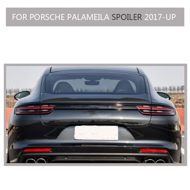 Carbon Fiber Rear Trunk Spoiler for Porsche Panamera 4 4s 2017 2018 2019 not fit for Turbo and Turismo