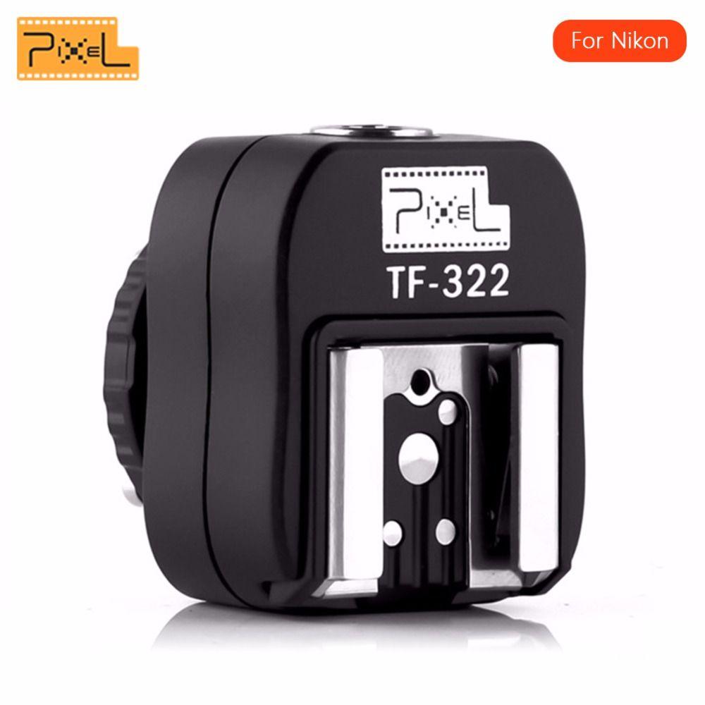 Nouvelle Promotion Pixel TF-322 I-TTL Flash Hot Shoe Converter Adaptateur avec PC Sync Port pour Nikon DSLR et Flashes pour studio Flash