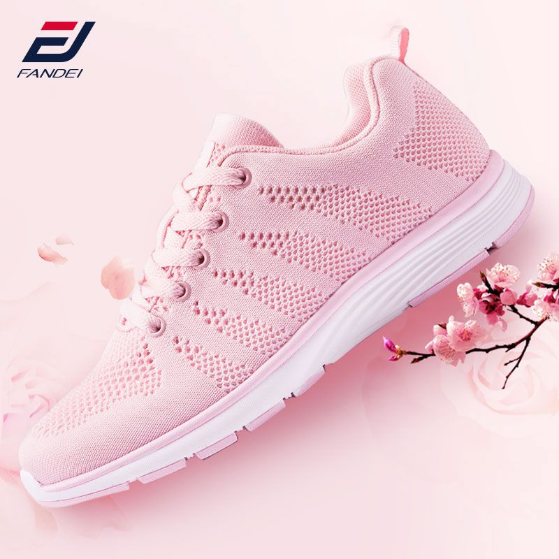 FANDEI running shoes women breathable mesh Pink sneakers women light weight sport shoes woman walking shoes female zapatillas