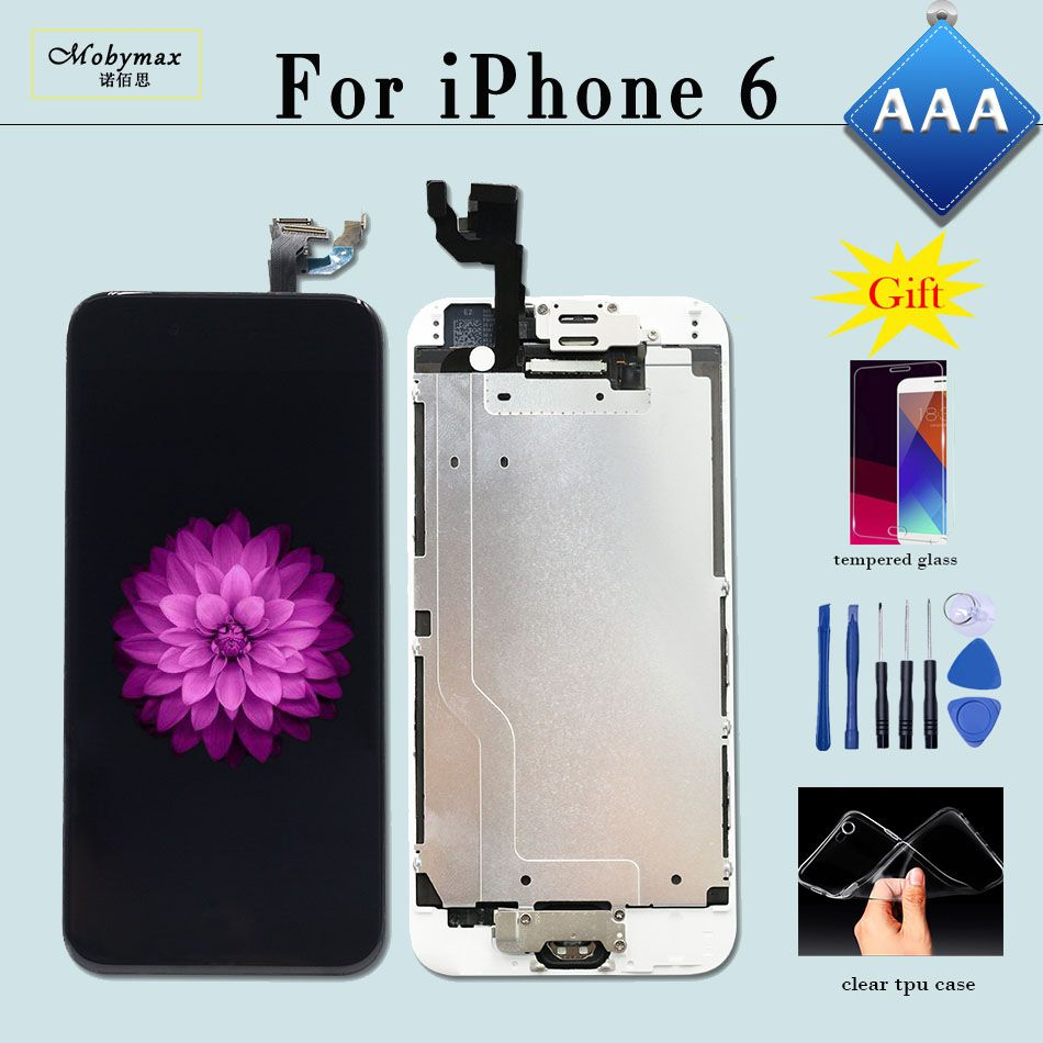 Screen For iPhone 6 LCD A1586 A1549 Full Assembly Replacement Touch Digitizer with Home Button Front Camera for iPhone 6 Display