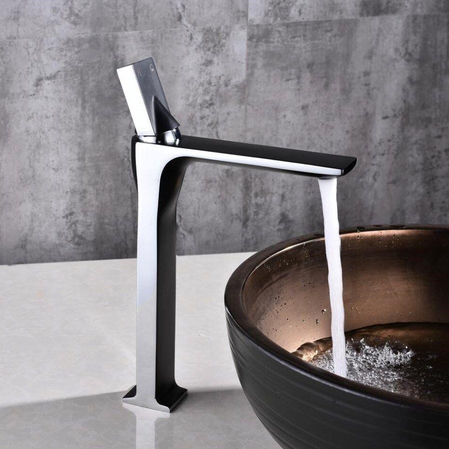 Abendessen hohe qualität Hohe sink wasserhahn bad dünne heiße und kalte becken wasser mischbatterie bad einzigen waschbecken wasserhahn kostenloser verschiffen