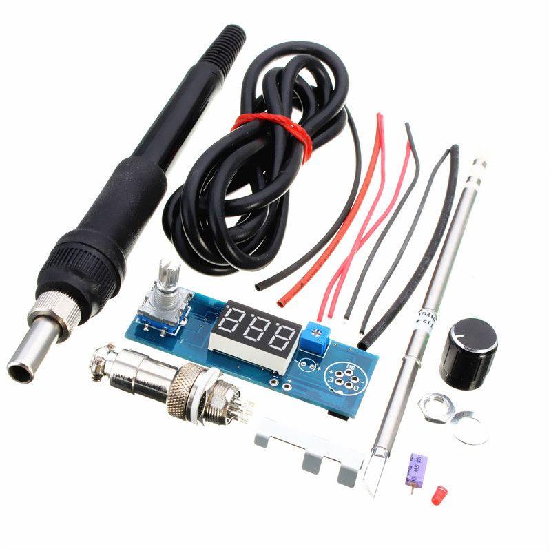DIY T12 ручка электрический блок базовые способности practicaldigital паяльник станция Температура контроллер Наборы