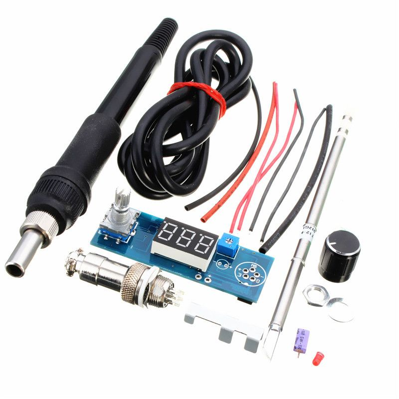 DIY T12 Handle <font><b>Electric</b></font> Unit Basic Ability PracticalDigital Soldering Iron Station Temperature Controller Kits