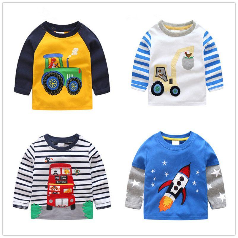 VIDMID garçons t-shirt enfants t-shirts automne dessin animé enfants chemises pour garçons bébé vêtements garçon t-shirt blouse dinosaure voitures épaisses