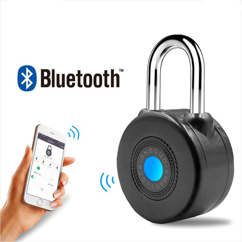 Neueste Bluetooth Smart Lock Anti-diebstahl-alarm Schloss für Radfahren Motorycle Tür mit APP Steuer