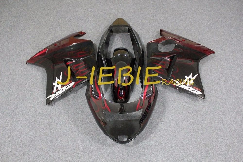 Black red fire Injection Fairing Body Work Frame Kit for HONDA CBR1100XX CBR 1100 CBR1100 XX 1996-2007 1997 2000