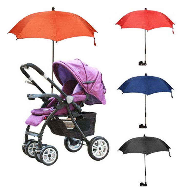 Baby Stroller Umbrella Portable Colorful Kids <font><b>Children</b></font> Pram Sun Shade Parasol Adjustable Folding Unbralla Stroller Accessories