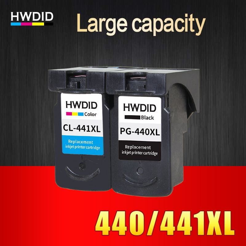 HWDID 2PK PG440 CL441 XL Ink Cartridge Replacement for Canon PG 440 PG-440 CL 441 for PIXMA MX374 MX394 MX434 MX454 MX474 3540