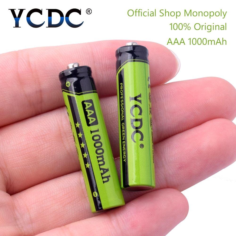 YCDC Original 4-20 Pcs/Lot NI-MH AAA 3A Batteries rechargeables 1.2 V 1000 mAh pour jouet souris batterie avec boîte de batterie