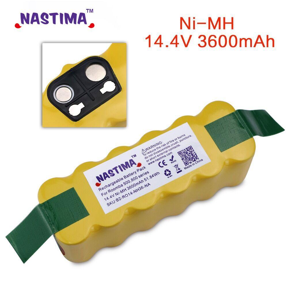 NASTIMA 3600mAh Batterie pour iRobot Roomba 500 600 700 800 900 Série Aspirateur iRobot roomba 600 620 650 700 770 780 800