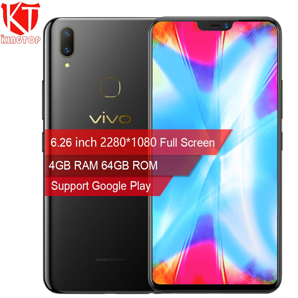 Original VIVO Y85 4GB RAM 64GB ROM Full Screen Octa core 6.26 inch Face Wake 2280*1080P Dual Camera 4G Mobile Phone Play Store