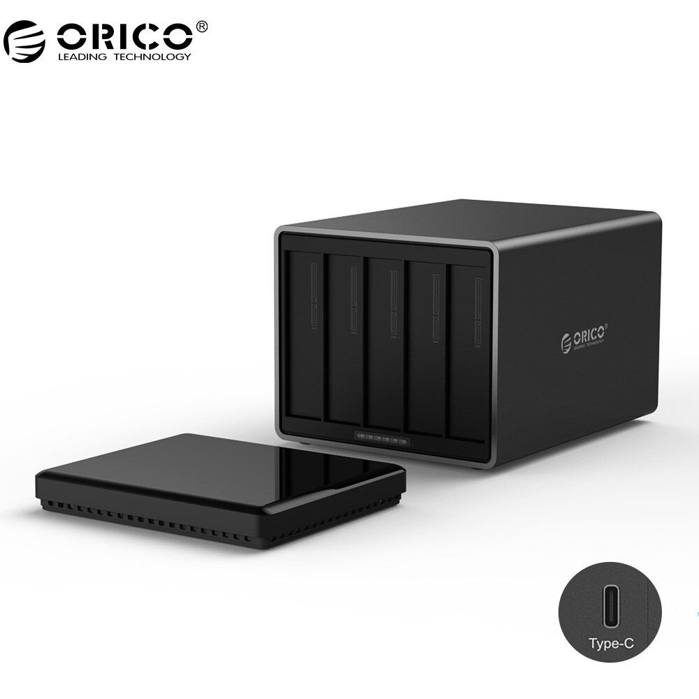 ORICO NS500C3 5 Bay Type-C Hard Drive Dock Support 50TB storage USB3.1 5Gbps UASP with 12V6.5A Adapter Tool Free HDD Enclosure