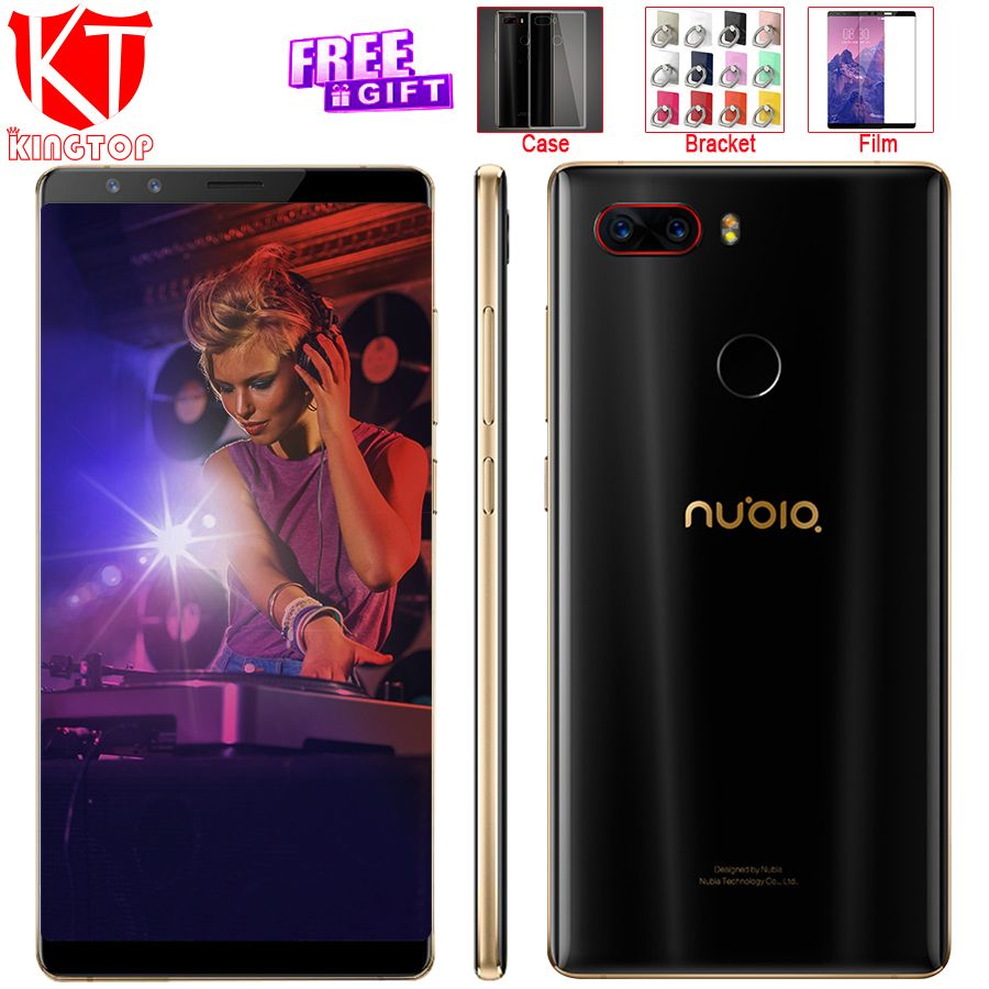 Original ZTE Nubia Z17S Full Screen Mobile Phone Snapdragon 835 6GB RAM 64GB ROM 5.73 inch Android 7.1 Dual Front Rear Cameras
