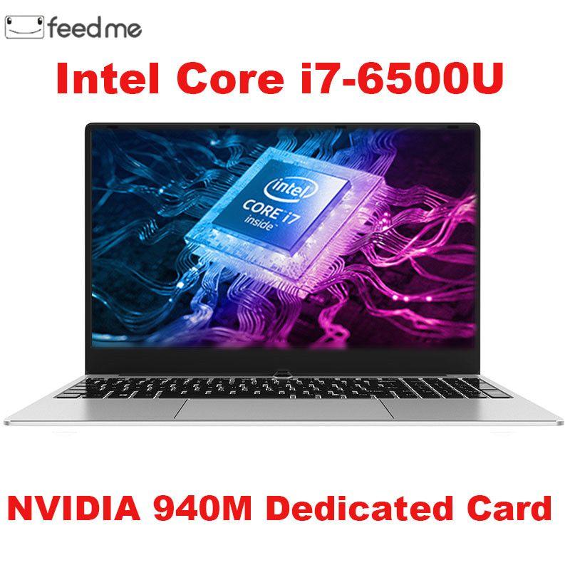 Gaming laptop 15,6 zoll Metall Körper Intel i7 6500U 16 GB RAM 2G Gewidmet Video Karte Windows 10 Notebook für spiel Büro Arbeiten