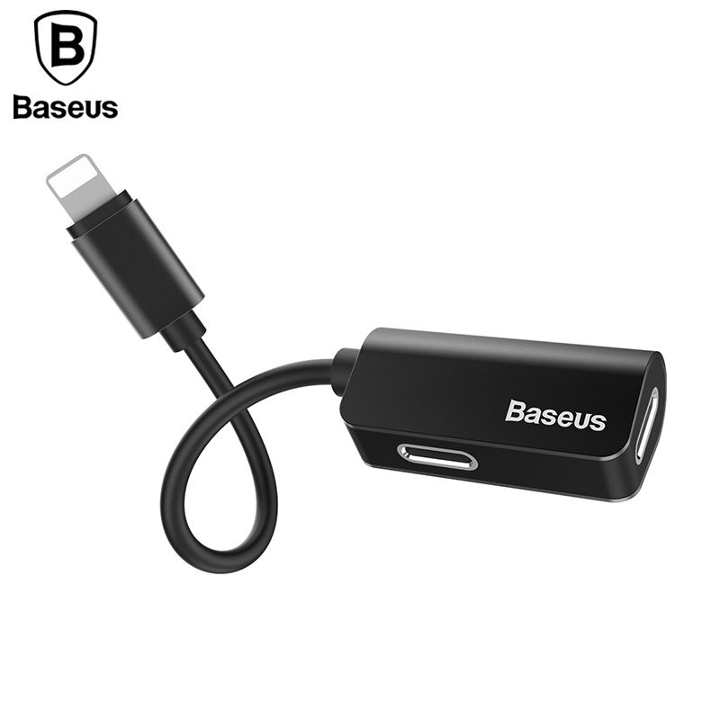 Baseus Aux Audio Cable Adapter For iPhone X 8 7 Earphone Headphone Charging Adapter USB Cable For iPhone 8 7 Plus Splitters