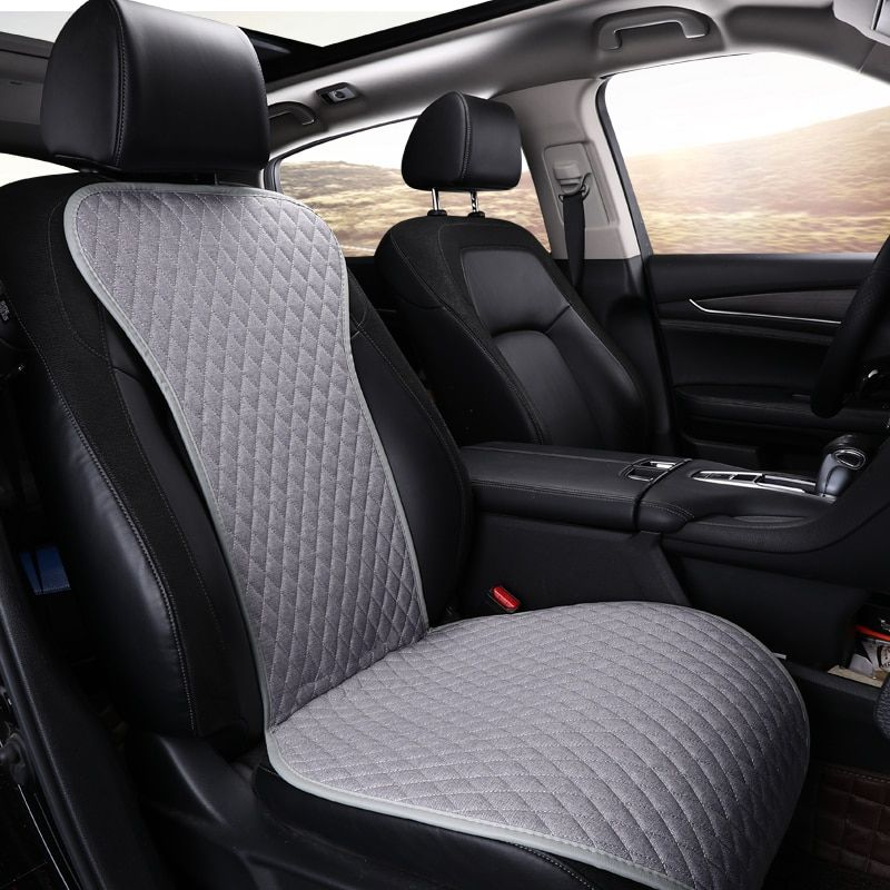 not moves Linen Fabric Car Seat Cover Four Seasons Flax Cushion Breathable Protector Mat Pad Auto accessories Universal Size